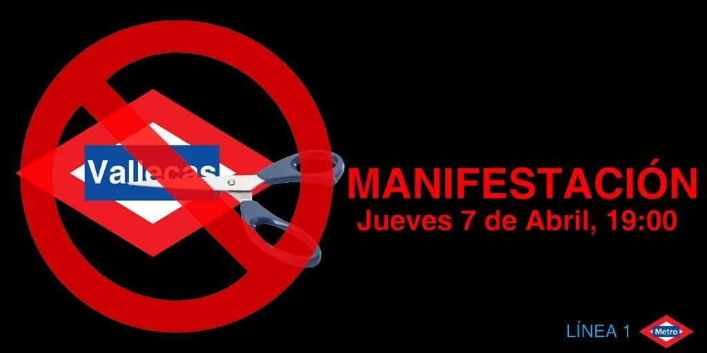 Vallecas mantiene la protesta por la Línea 1 de Metro de esta tarde