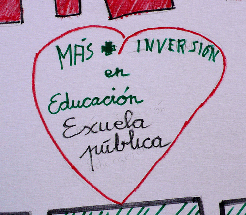 Vallecas se mueve contra el deterioro de la educación pública