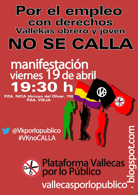 Vallecas toma la calle para exigir empleo digno con derechos