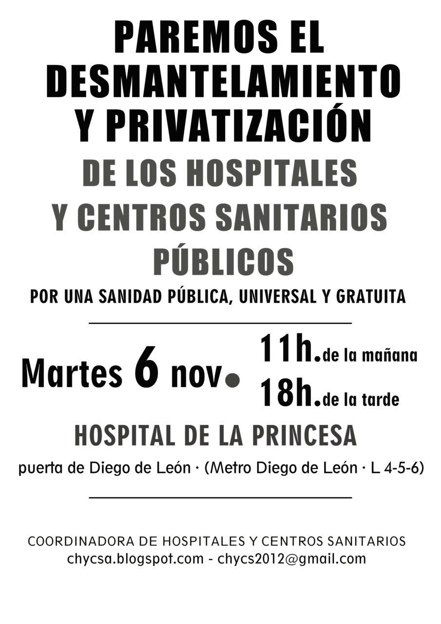Vecinos y profesionales piden que La Princesa siga siendo un hospital general público