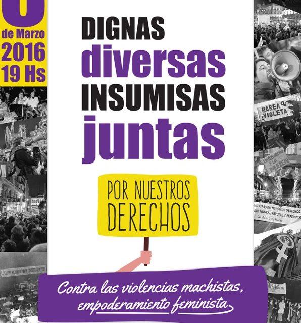 #YoVoy8deMarzo contra las violencias machistas, por el empoderamiento feminista