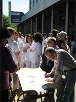 Contra la reducción de camas en el Ramón y Cajal