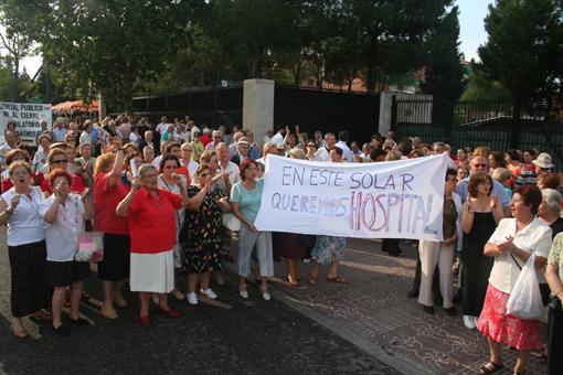 Decimoquinta manifestación para exigir la construcción del hospital del Aire