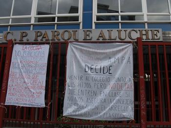 El colegio Parque Aluche sigue en pie de guerra