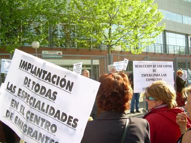 Hortaleza y Leganés dieron ayer el pistoletazo de salida a la jornada de lucha contra la privatización de la sanidad pública