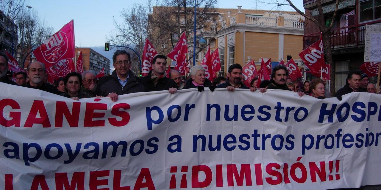 LA FRAVM apoya con su presencia a los profesionales del Severo Ochoa