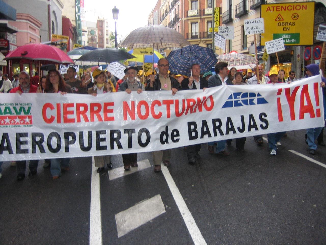 La FRAVM presenta sus alegaciones al mapa de ruido de Madrid-Barajas
