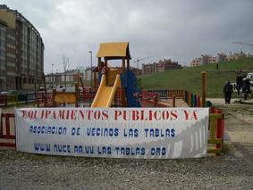 """Las Tablas inicia una """"ofensiva"""" en la calle para reclamar equipamientos públicos"""