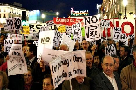 Los colectivos antiparquímetros anuncian nuevas movilizaciones