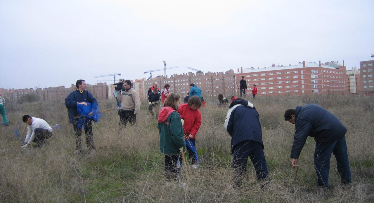 Los vecinos de Coslada plantan centenares de árboles en el Bosque del Humedal