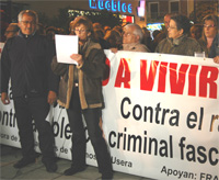 Los vecinos de Usera se manifiestan contra el asesinato de Carlos J. Palomino