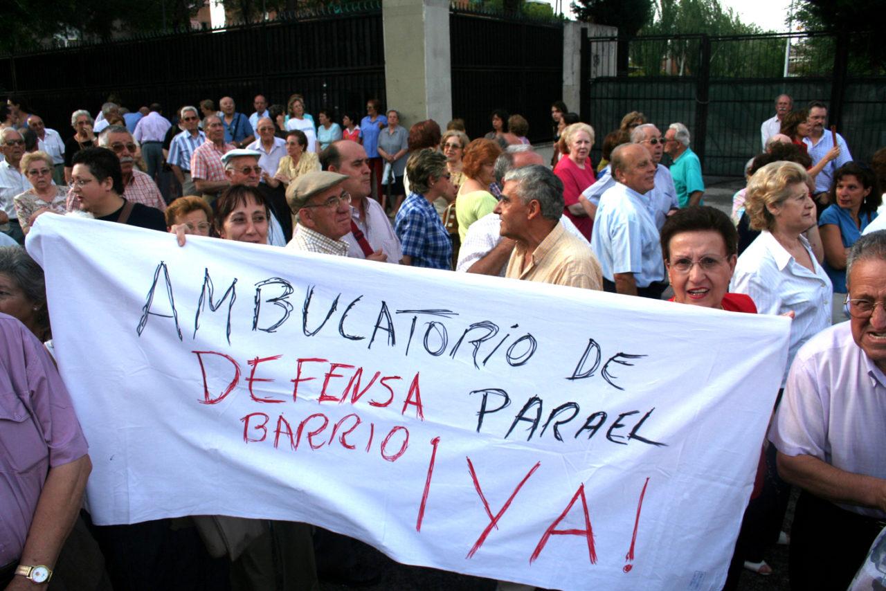 Más de doscientas personas reclaman la construcción del nuevo Hospital del Aire