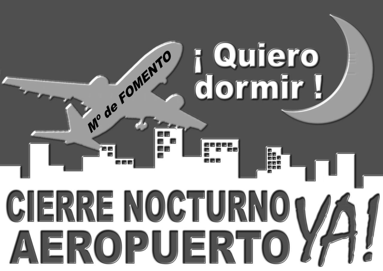Más de una veintena de organizaciones reclaman el cierre nocturno del aeropuerto