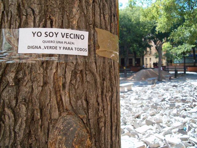 """No a la tala de árboles de la """"plaza Vieja"""""""