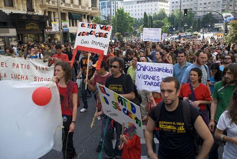 Unas 3.000 personas participan en la manifestación de apoyo al Patio Maravillas