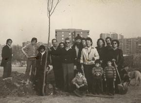 Vecinos de Adelfas inauguran el parque Martin Luther King