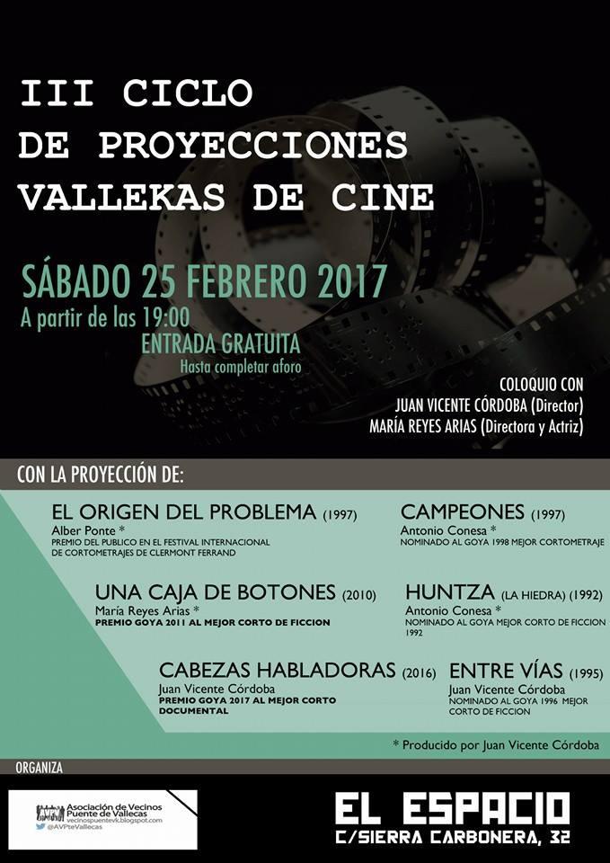 El Goya 2017 al mejor corto documental inaugura el III Ciclo Vallekas de Cine