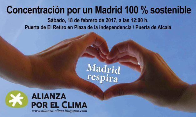Concentración para celebrar el voto ciudadano por un Madrid 100% sostenible
