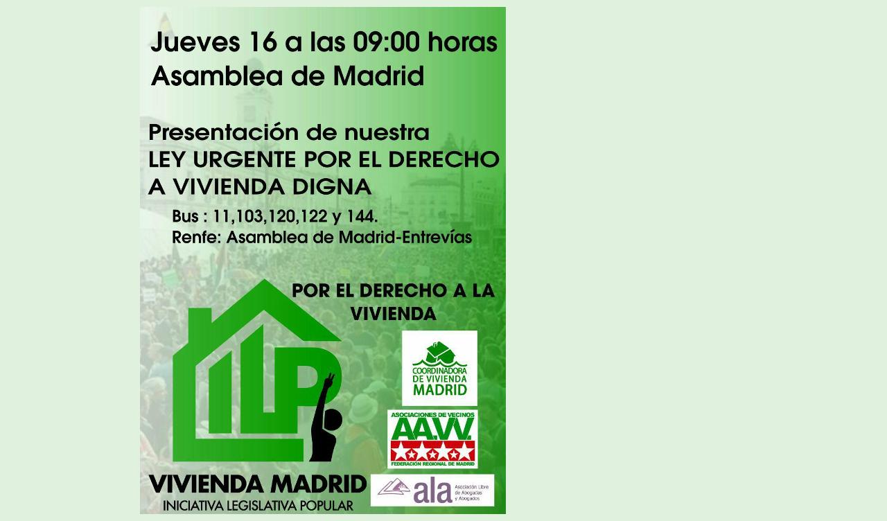 ILP por el derecho a la vivienda: comienza la cuenta atrás