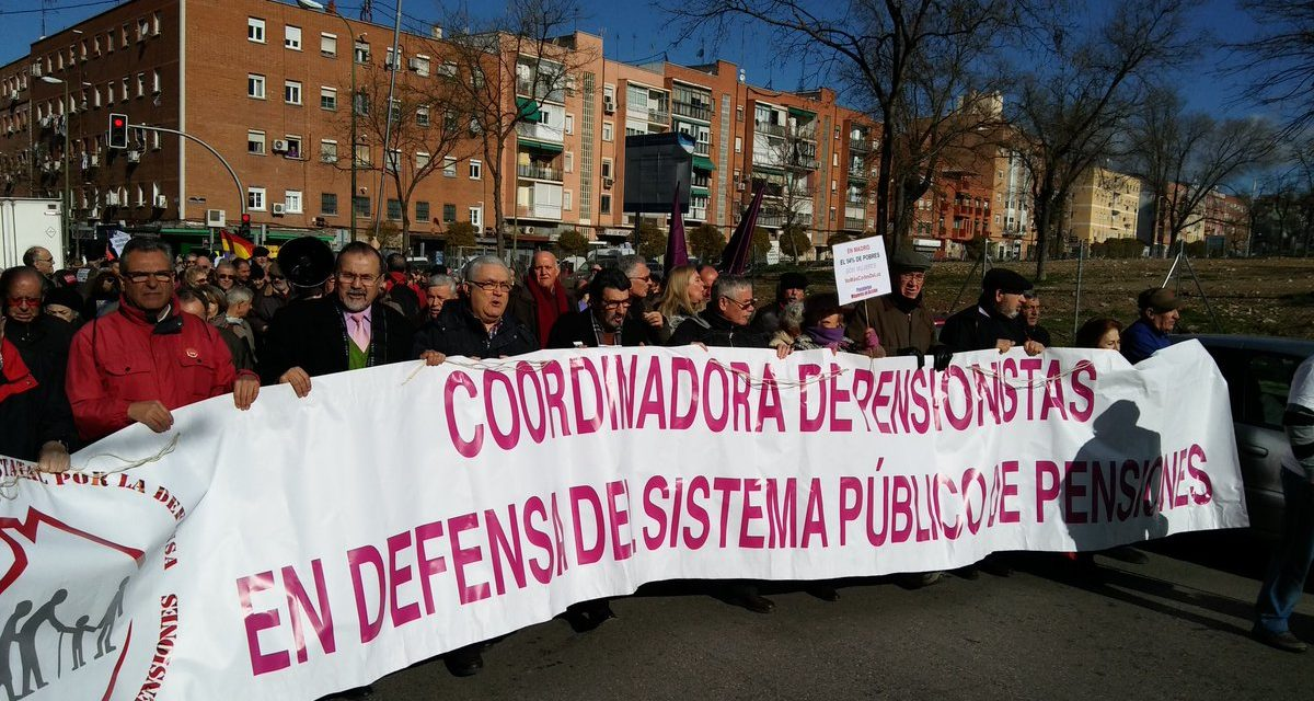 Los mayores protestan contra el ridículo incremento de las pensiones
