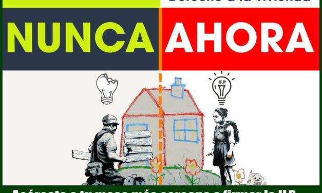 1 de abril: gran jornada de recogida de firmas para la ILP de vivienda