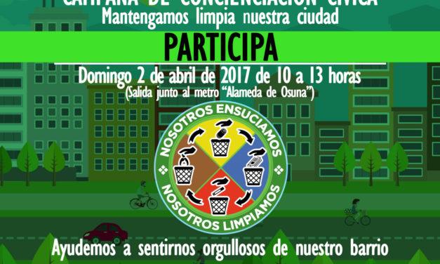 """Alameda de Osuna: """"Nosotros ensuciamos, nosotros limpiamos"""""""