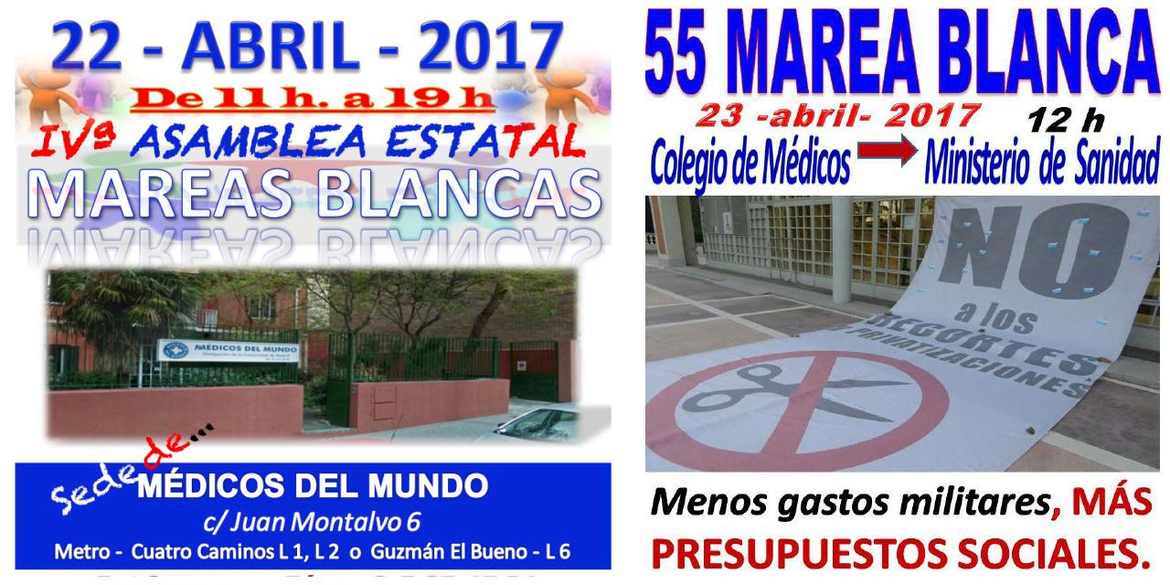 La IV Asamblea Estatal de Mareas Blancas precederá a la 55ª marea madrileña