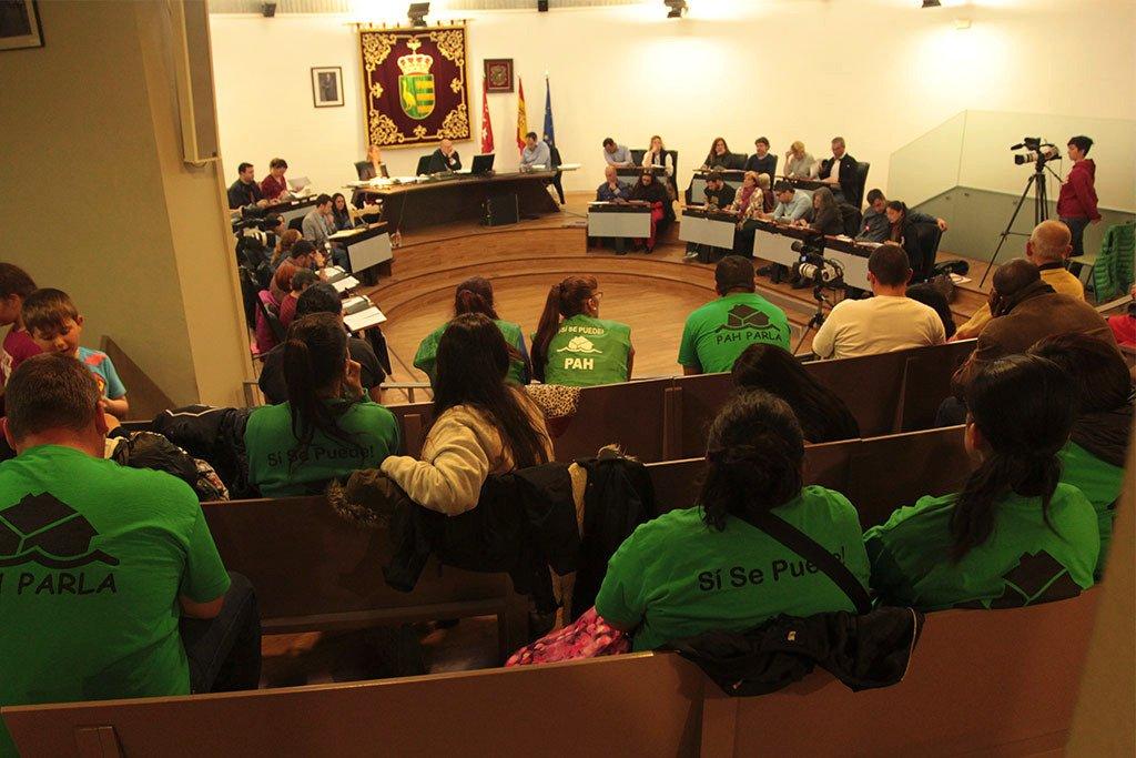 Tras Valdemoro, el Ayuntamiento de Parla se compromete a apoyar la ILP de vivienda