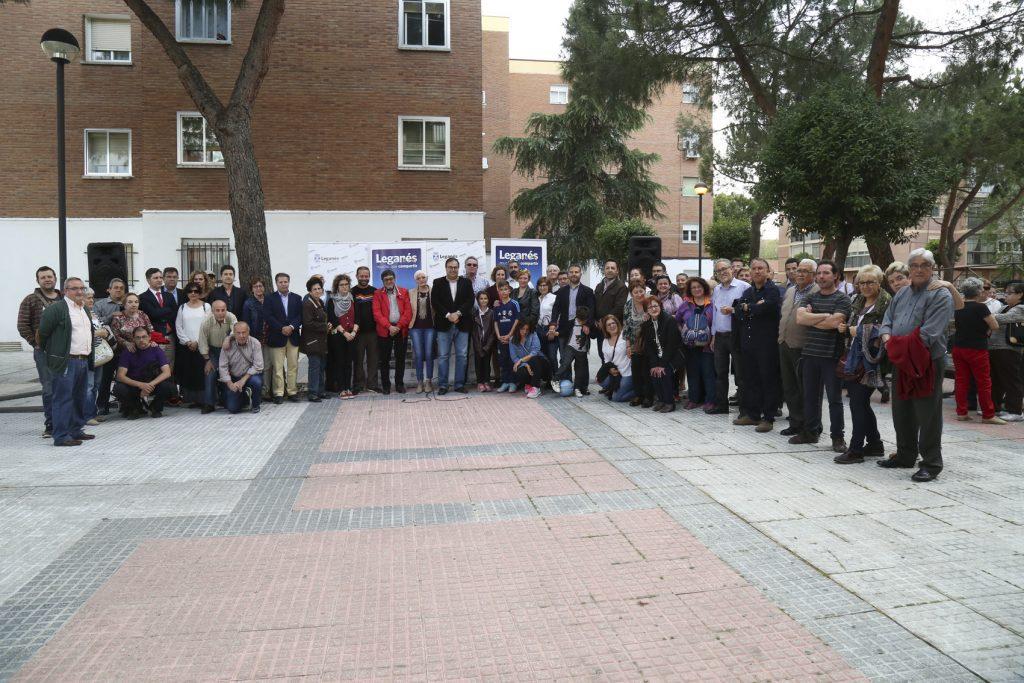 Se inaugura en Leganés una plaza en homenaje al dirigente vecinal Paco Pérez