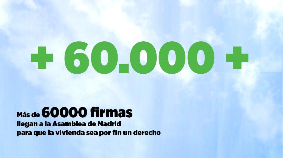 26M: las firmas de la ILP de Vivienda llegan por fin a la Asamblea de Madrid