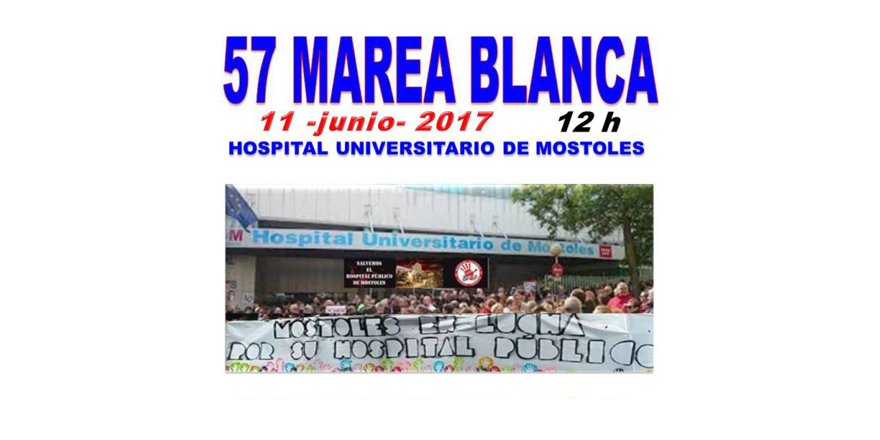 La Marea Blanca abrazará el Hospital Universitario de Móstoles en su 34ª cumpleaños