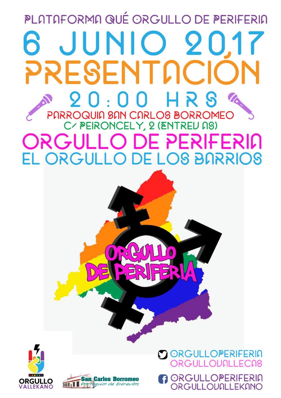 Cartel presentación Orgullo Periferia en Entrevías