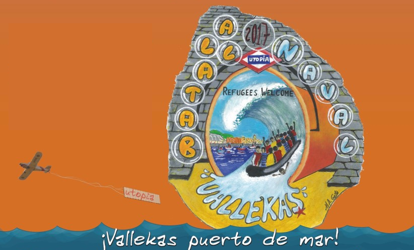 Batalla Naval 2017: Vallecas se declara puerto de acogida de refugiados