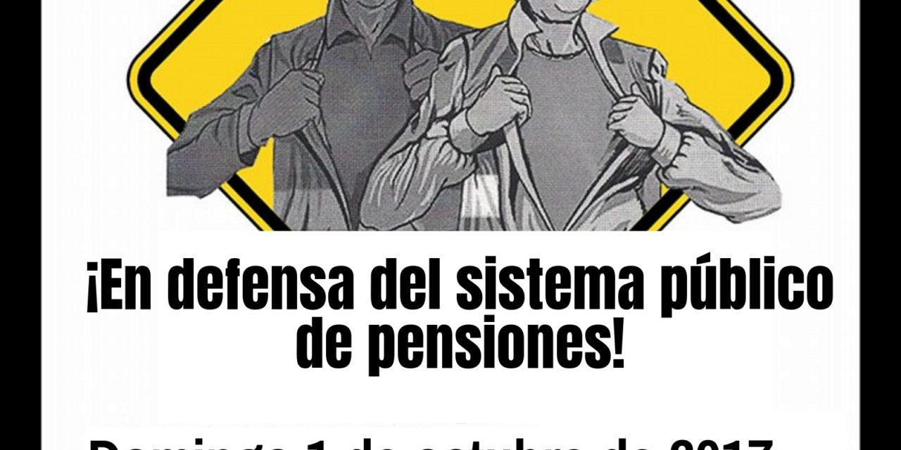 El Día de las Personas Mayores, salimos a la calle para defender el sistema público de pensiones