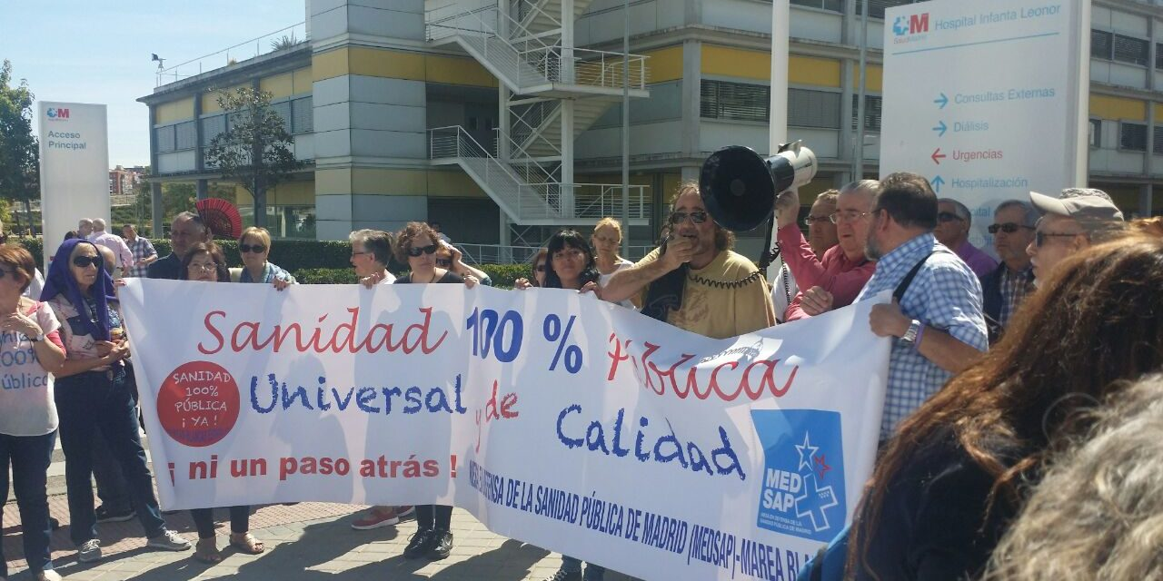 La 60ª Marea Blanca reclama más inversión pública para la atención sanitaria en Vallecas