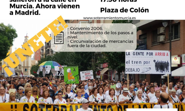El sábado 28-O nos unimos a los vecinos de Murcia en su marcha contra el muro del AVE