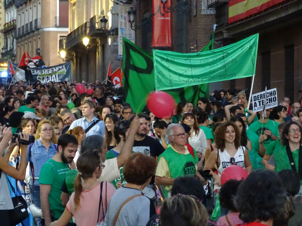 Los promotores de la ILP de vivienda se quedarán sin poder defenderla en el pleno de la Asamblea de Madrid