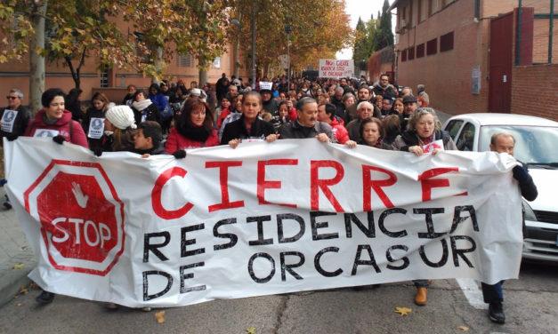 Orcasur lleva a la Asamblea de Madrid su lucha para evitar el cierre de la Residencia de Mayores San José