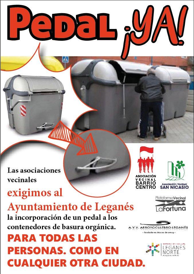 Cartel campaña pedal ya en Leganés
