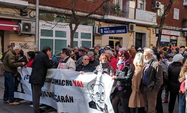 Una manifestación reclama el cambio de nombre del paseo Muñoz Grandes por Marcelino Camacho
