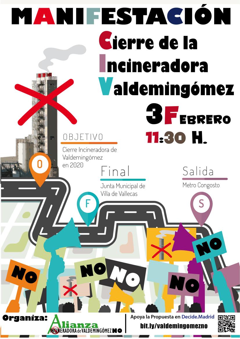 Cartel por el cierre de la incineradora de Valdemingómez