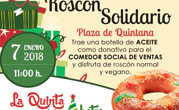 Quintana cerrará las fiestas navideñas con un roscón solidario de 500 raciones