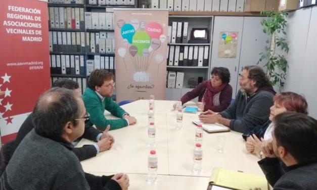 El Grupo Popular del Ayuntamiento de Madrid se reúne con la dirección de la FRAVM