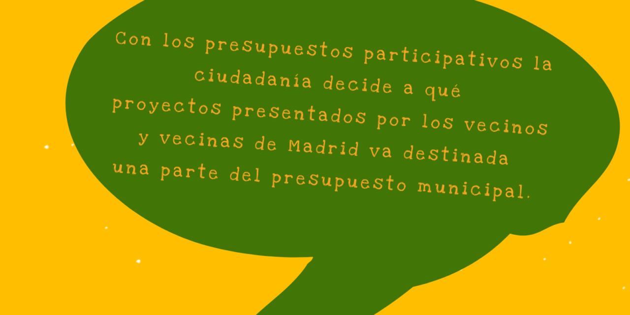 Presentar un proyecto a los presupuestos participativos de Madrid no es tan difícil, prima