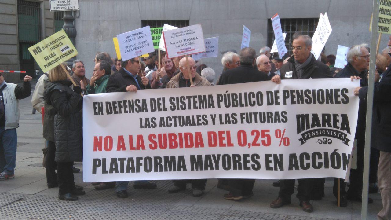 Las personas mayores se movilizan de nuevo para defender las pensiones públicas