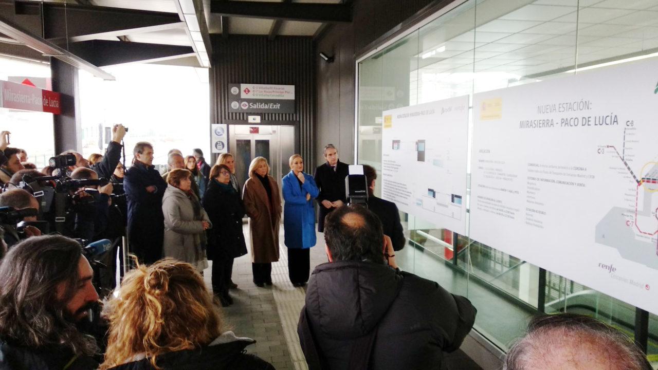 Fomento inaugura por fin la estación de tren Mirasierra-Paco de Lucía