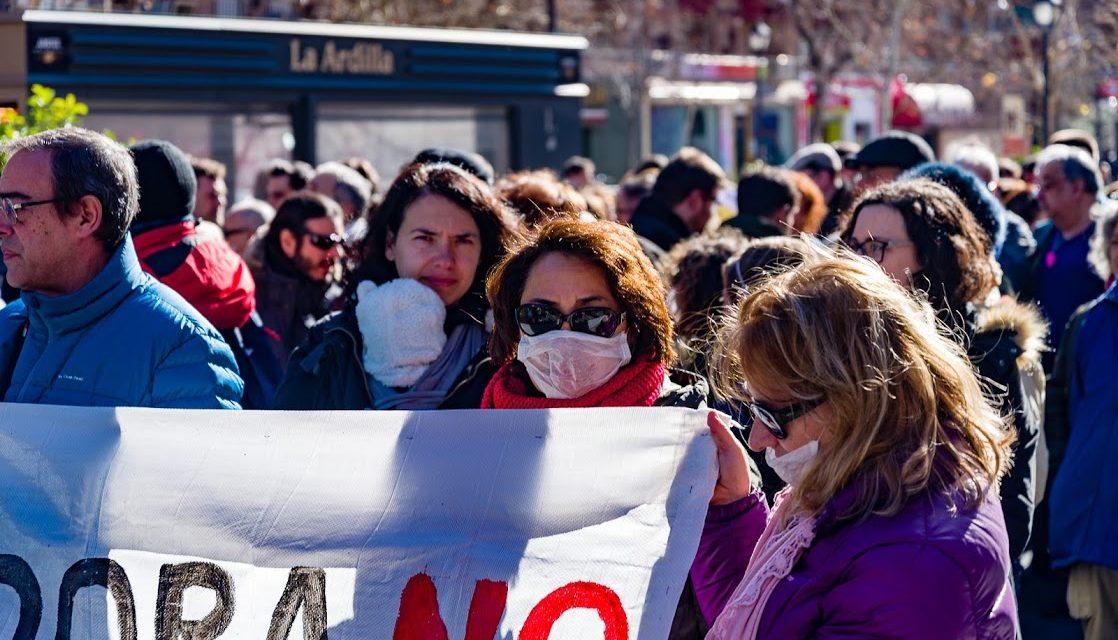 Miles de personas reclaman en Vallecas el cierre de la incineradora de Valdemingómez