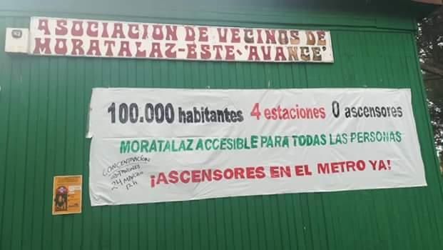 Estaciones de Metro en Moratalaz: los ascensores que nunca llegan