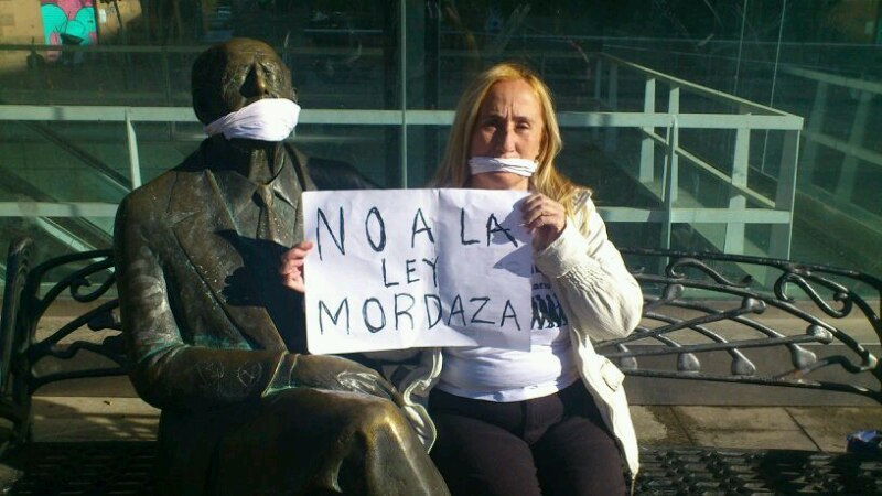 Por la derogación de la Ley Mordaza y la libre expresión de la ciudadanía