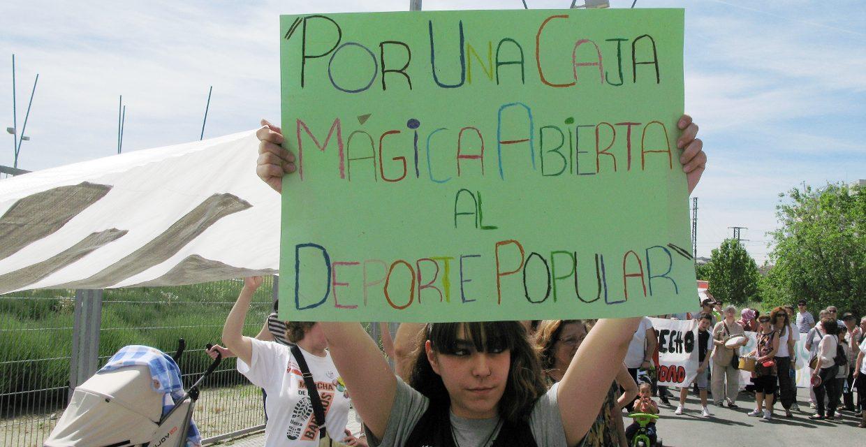 La vecindad de San Fermín reclama la apertura de un polideportivo para el deporte de base en la Caja Mágica